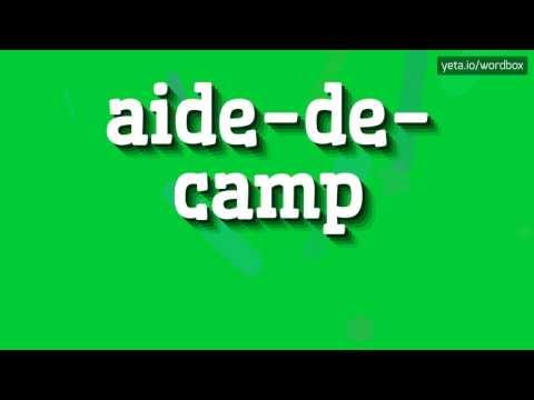 AIDE-DE-CAMP - HOW TO PRONOUNCE IT!?