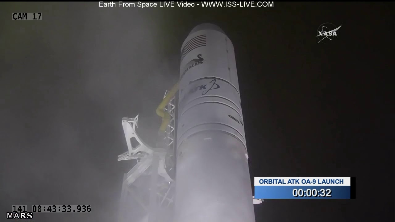Launch of Orbital ATK Cygnus Resupply Mission To The ISS