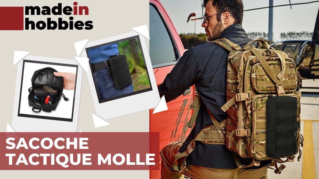Azarxis Sac Tactique Petite Sacoche M/édical Trousse Militaire /Étui Molle pour Jeu de Guerre CS Randonn/ée Escalade