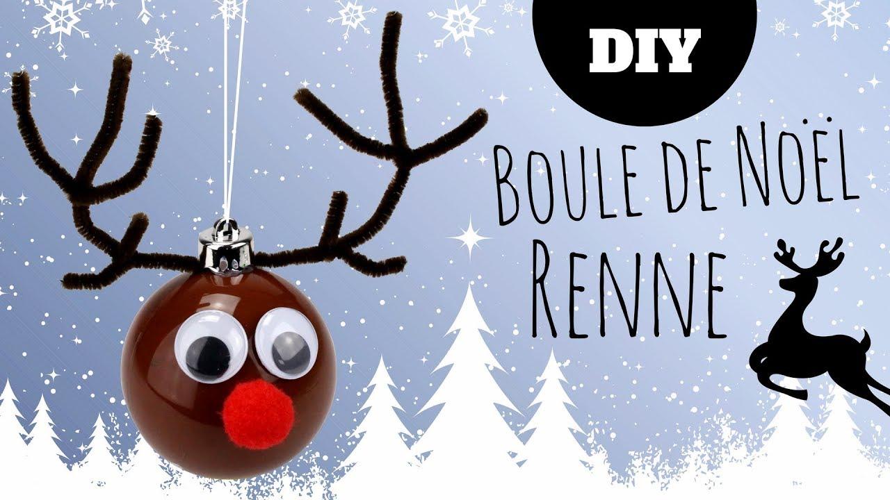 diy no l fabriquer un renne avec une boule en plastique. Black Bedroom Furniture Sets. Home Design Ideas