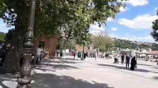 Hacı Bayram camii ve bahçesi, Ankara, Türkiye.