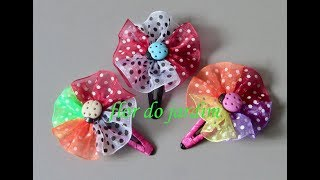 Florzinha multi cores no TIC-TAC – flower with organza ribbon