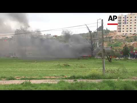 Palestinians and Israeli forces clash in Ramallah and Gaza