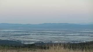 2019/5/13 大潟村やその周りの田んぼに張られた水で、昔の八郎潟の姿を...
