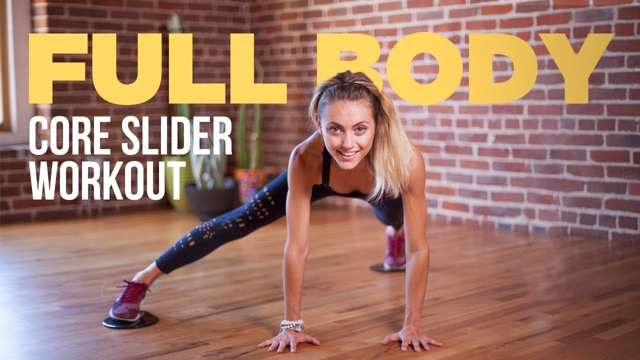 13 Minute Full Body Workout Using Core Sliders Sliding Disks