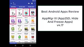 Review Android Apps, AppMgr III Pro v4.17 screenshot 4