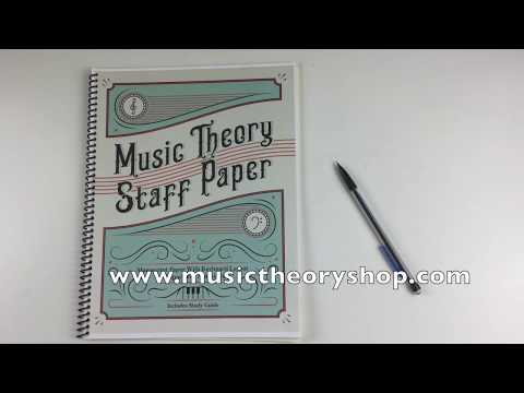 Music Theory Staff Paper™ is a new genre of music paper