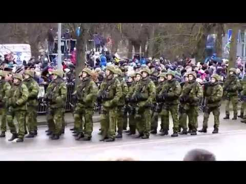 2nd Cavalry Regiment in Estonian Independence Day Parade (HD)