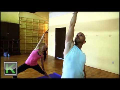 One Minute Yoga Viparita Virabhadrasana Reverse Warrior