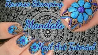 Mandala Nail Art   Reverse Stamping Nail Art Tutorial
