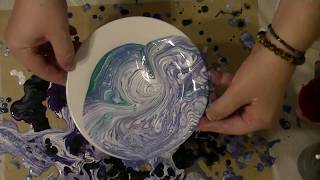 Fluid Art Acrylic Pouring ' Heaven is a plate on Earth' by Stuart Wimbles