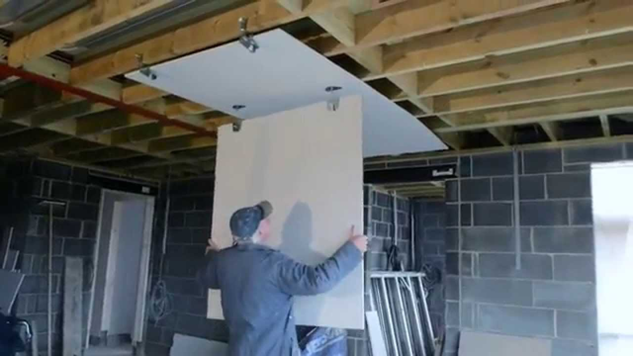 How To Fit Plasterboard To An Existing Ceiling Double