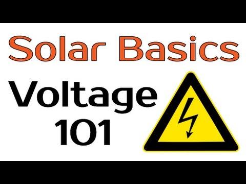 Solar Panel Basics - Voltage 101
