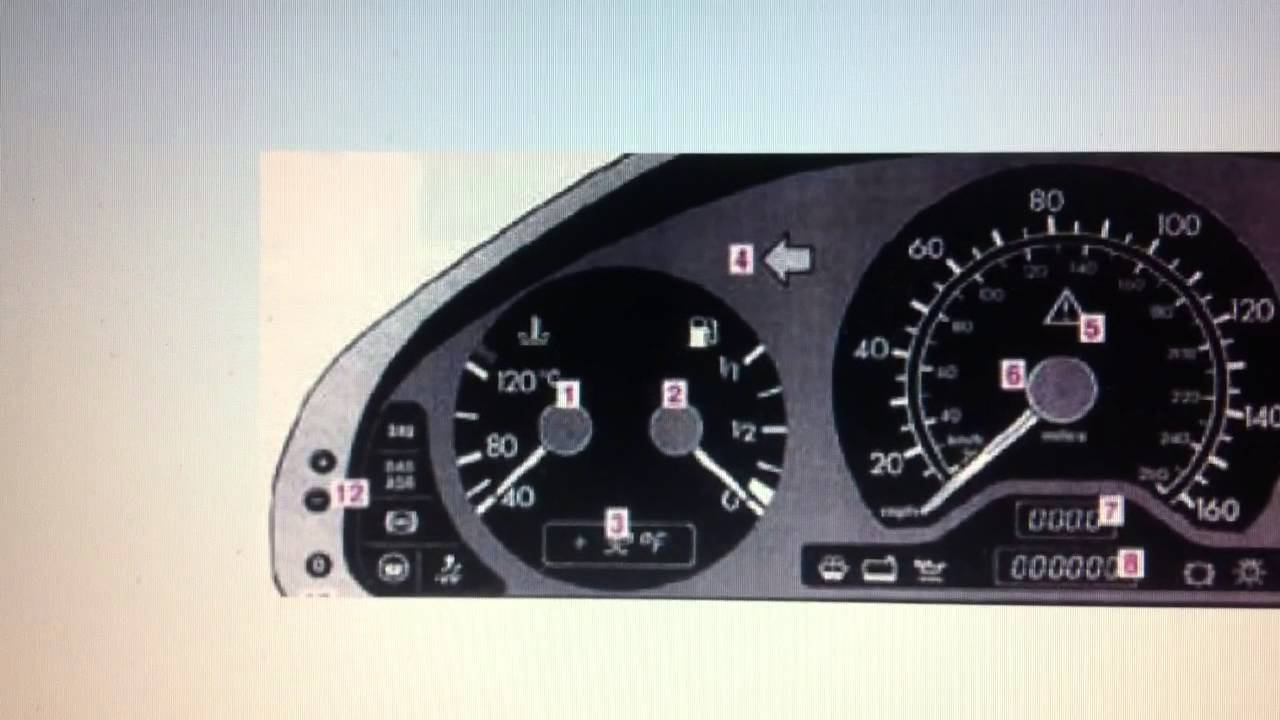Mercedes C Class W202 SRS Airbag Warning Light - How to turn it off