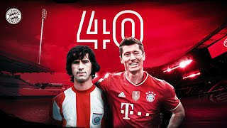Robert Lewandowski equals Gerd Müller's 40-Goal Record!