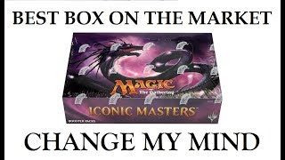 mtg iconic masters booster box opening case hit