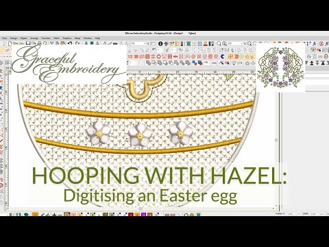 Hooping with Hazel: Digitising an embroidered Easter egg