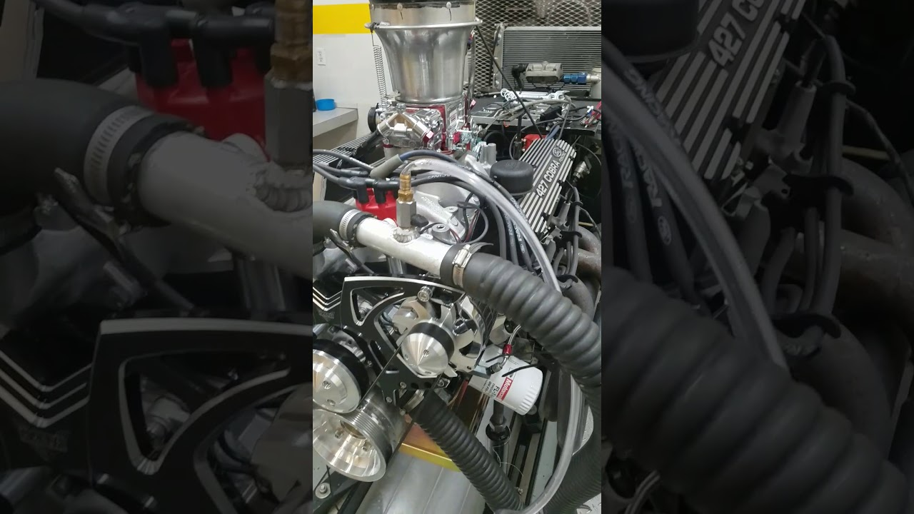 Steve's beautiful 427 Dart base small block Ford on the dyno