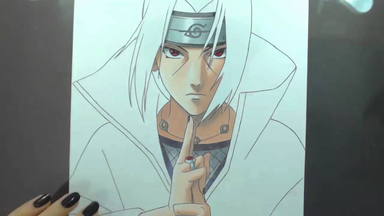 speed drawing uchiha itachi naruto youtube