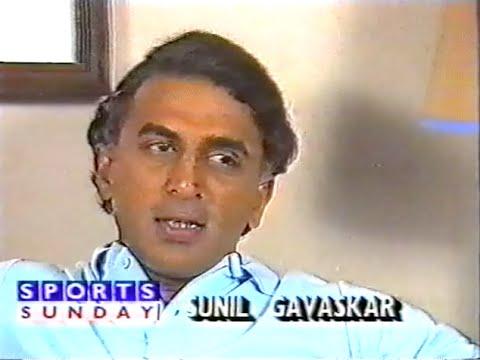 Rare 1986 Sunil Gavaskar interview
