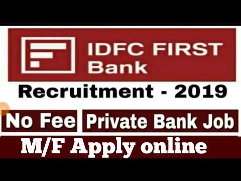 Private Bank: IDFC First Bank REcruitment | Job location TAmilnadu | Apply Online