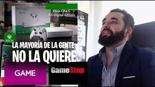 La Nueva Xbox One S All Digital Edition No la quiere comprar la gente según tiendas GAME y GAMESTOP