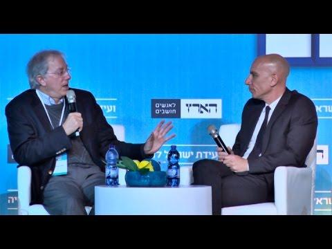 Aluf Benn interviewing Dennis Ross at Haaretz Conference for Democracy