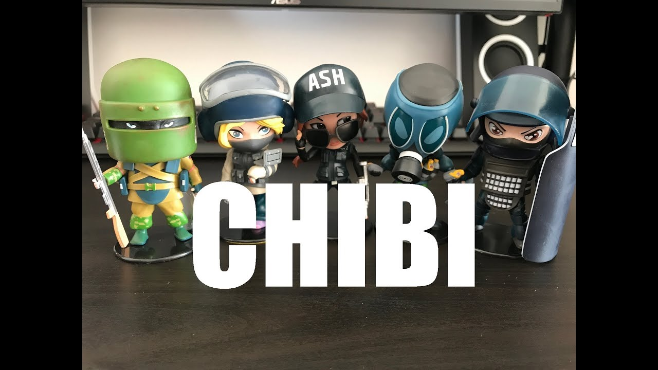 Rainbow Six Siege Seria 1 Figurki Official Chibi 6 Collection
