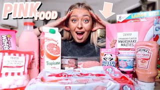 I ONLY ate PINK Food for 24 HOURS!!
