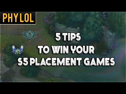 5 tips to winning your placement games after S5 ranked reset