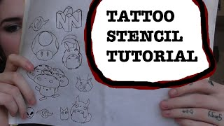 TATTOO STENCIL TRANSFER TUTORIAL(, 2015-10-07T22:03:59.000Z)