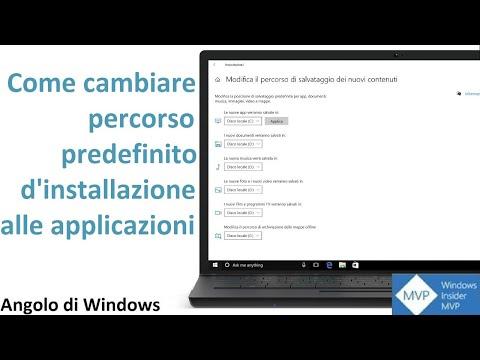 Come cambiare percorso predefinito d'installazione alle applicazioni in Windows 10