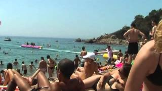 Repeat youtube video Nudist on the beach in Lloret de Mar