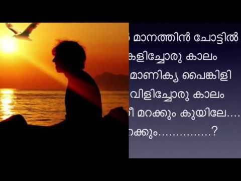 Engine nee marakkum kuyile karaoke with lyrics