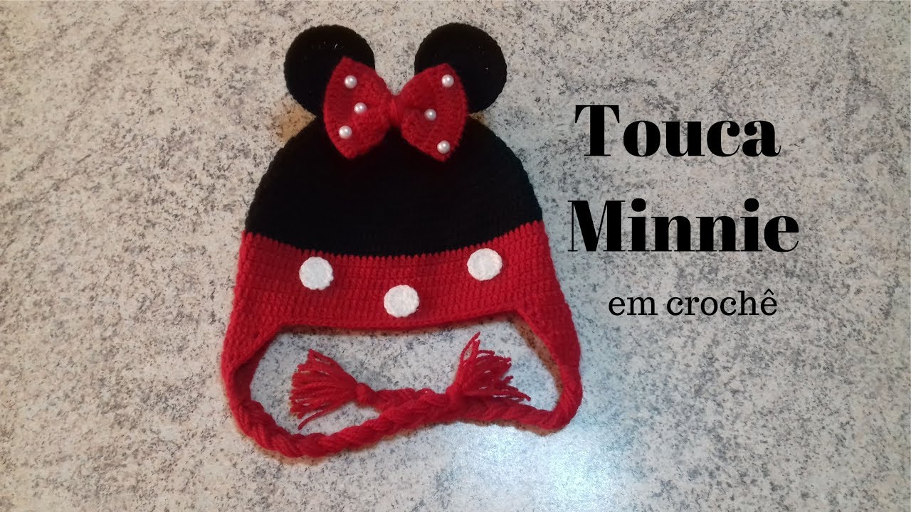 Touca Minnie em crochê - YouTube 39991894935