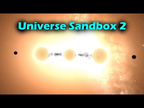 Ripping a Star into Two [With Black Holes] - Universe Sandbox 2