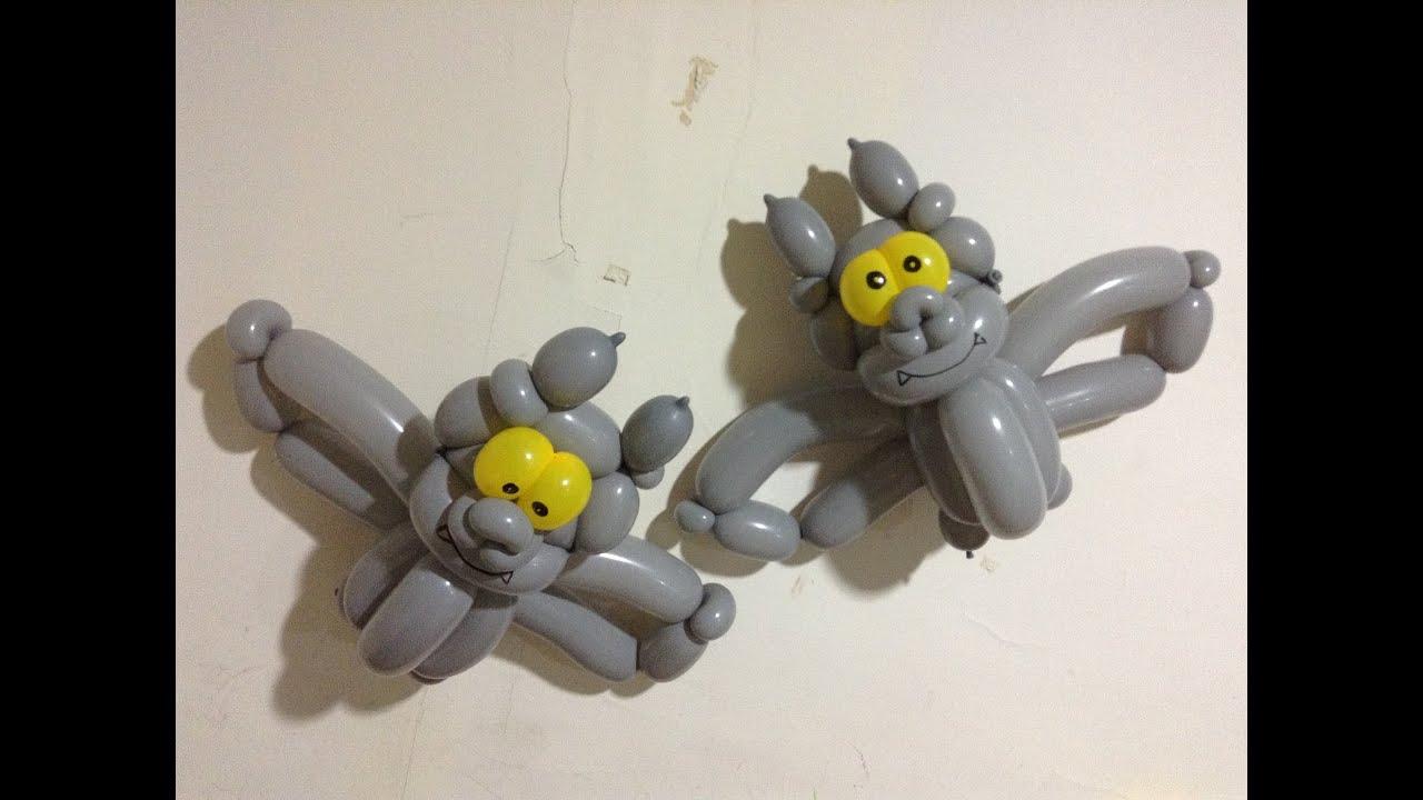 Crazy balloon animals -  Bat Halloween Balloon Twisting
