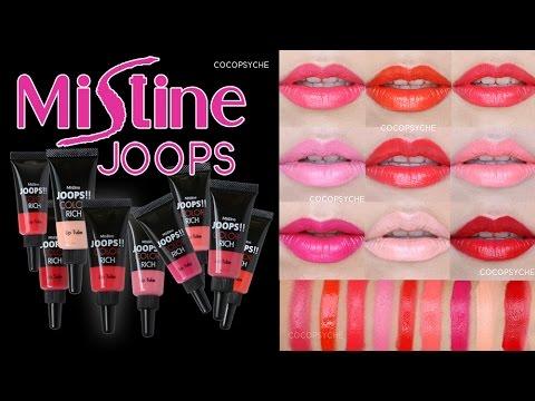 Review - Mistine Joops Color Rich Lip Tube 8 สีอิ่ม พร้อมสีพิเศษ Angel Red