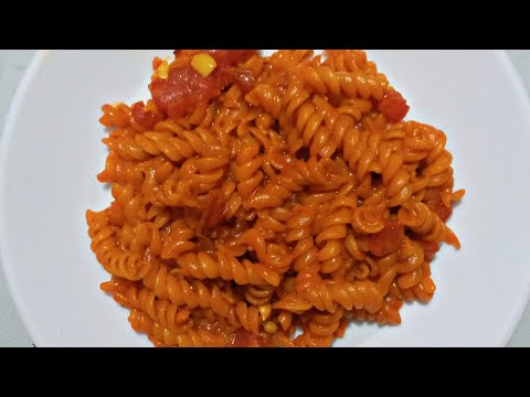 Simple masala pasta recipe 😋! Indian style pasta recipe without vegetables!spicy pasta recipe!