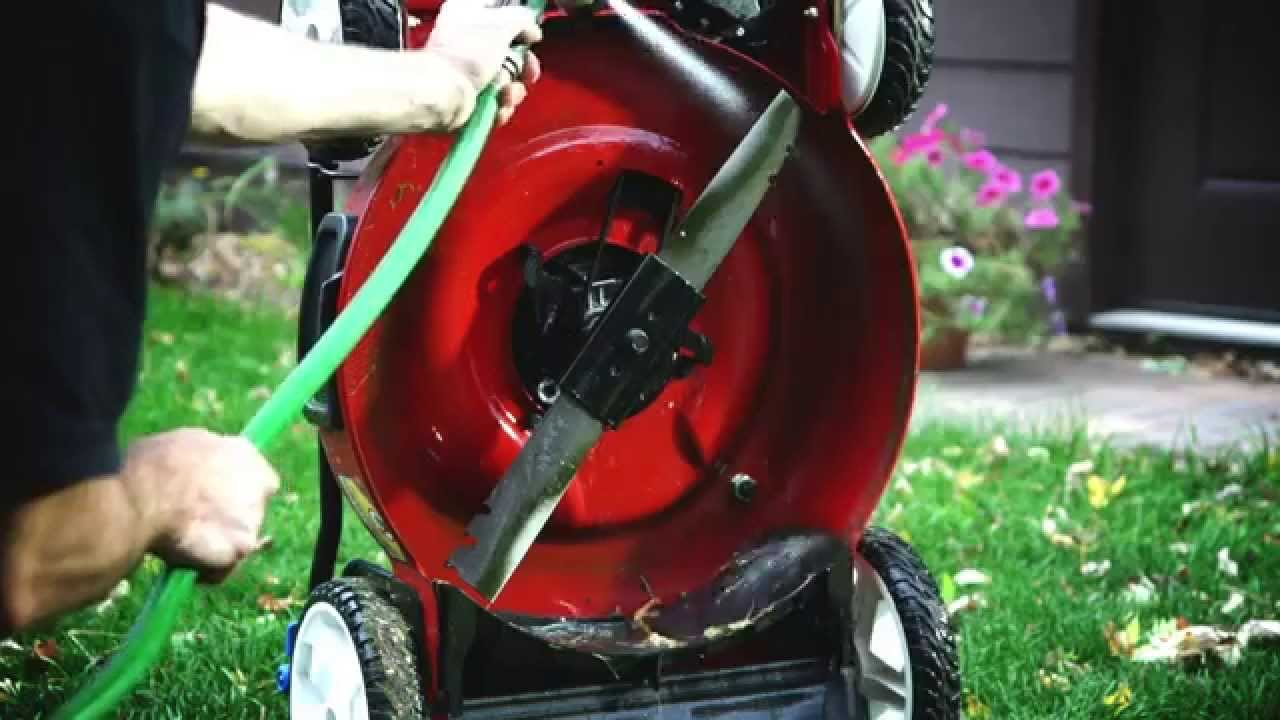 Compact Storage Lawn Mower