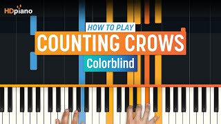 How To Play Colorblind by Counting Crows | HDpiano (Part 1) Piano Tutorial