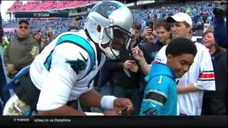 Cam Newton Meets Steve McNair's Son | Panthers vs. Titans | NFL