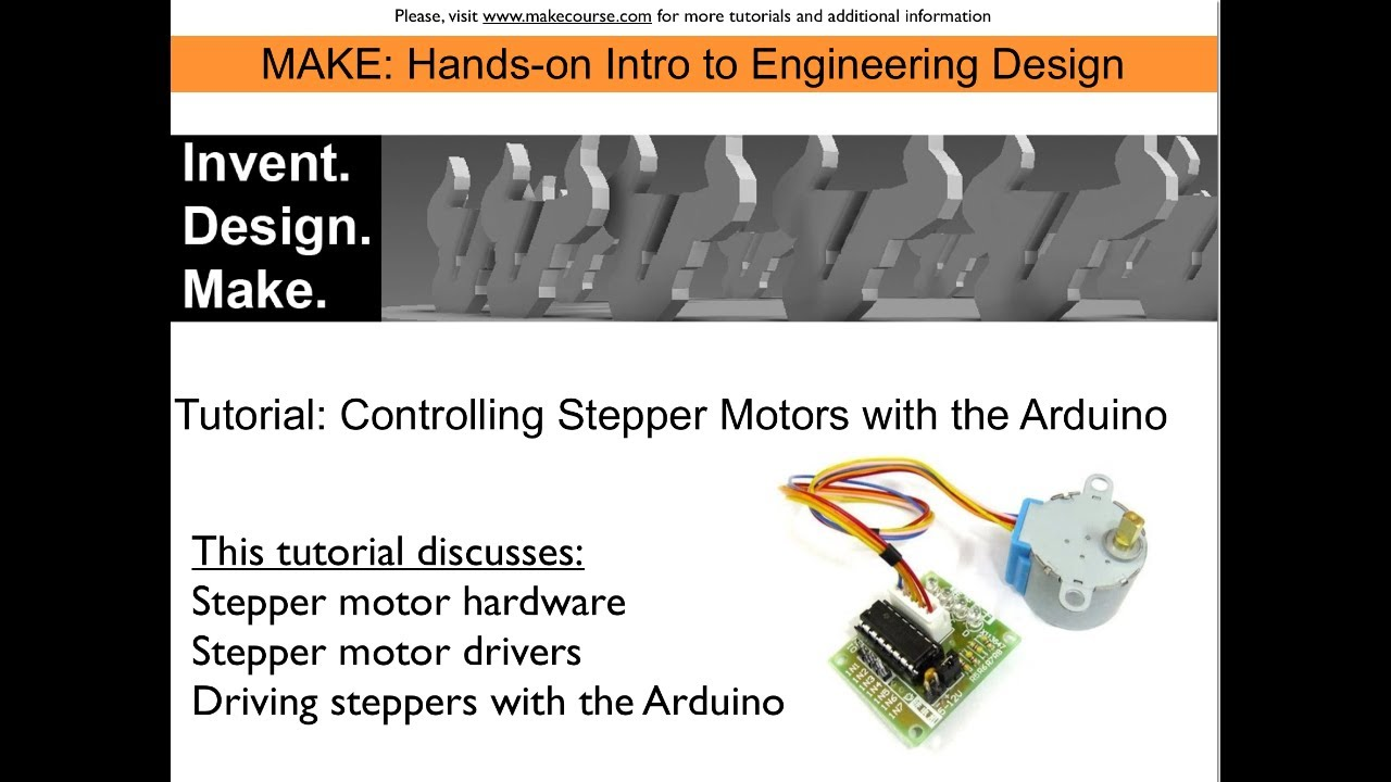 Tutorial stepper motors controlled with the arduino youtube tutorial stepper motors controlled with the arduino baditri Gallery