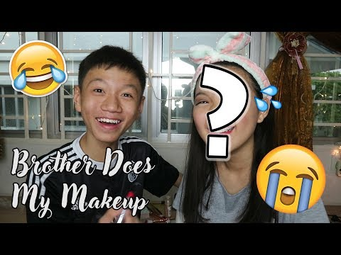 Brother Does My Makeup! 😵| Celine Chia