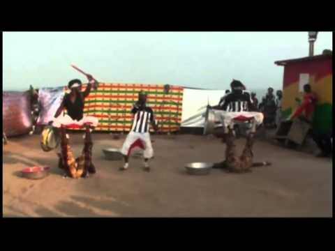 African Acrobatic Circus Skills performance in Ghana 2014 with Ras King Bobo 1
