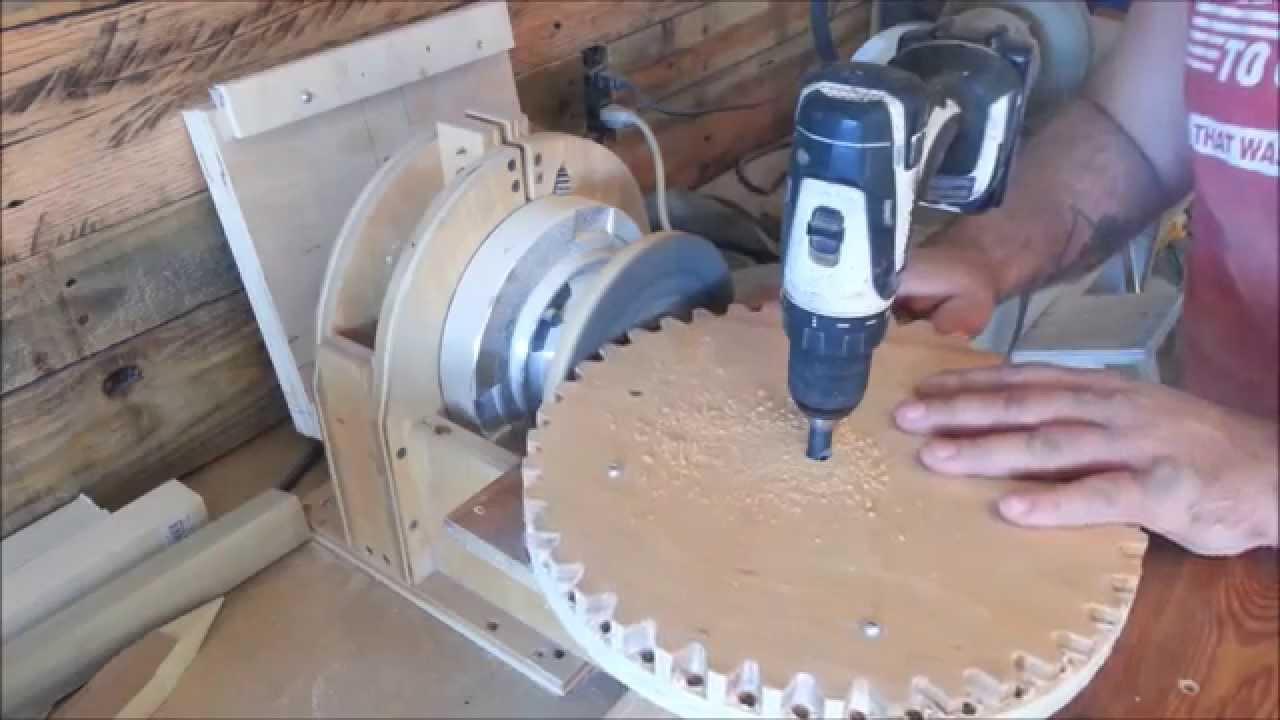 Build a wood gears yard broom! - YouTube