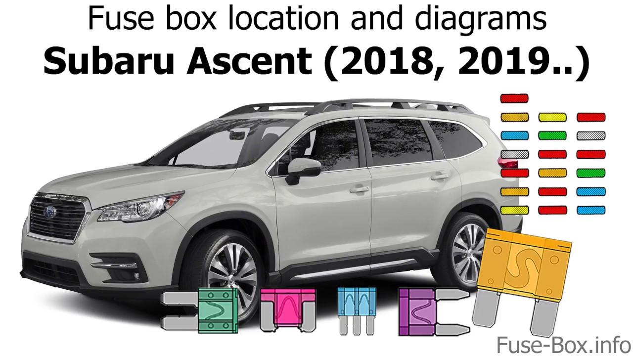 medium resolution of fuse box location and diagrams subaru ascent 2018 2019