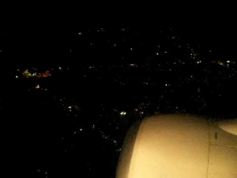 Manila View at Night-Plane Landing