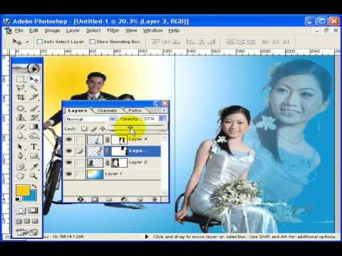 Photoshop CS2 - Phần 6 - Bài 4a - Album đôi