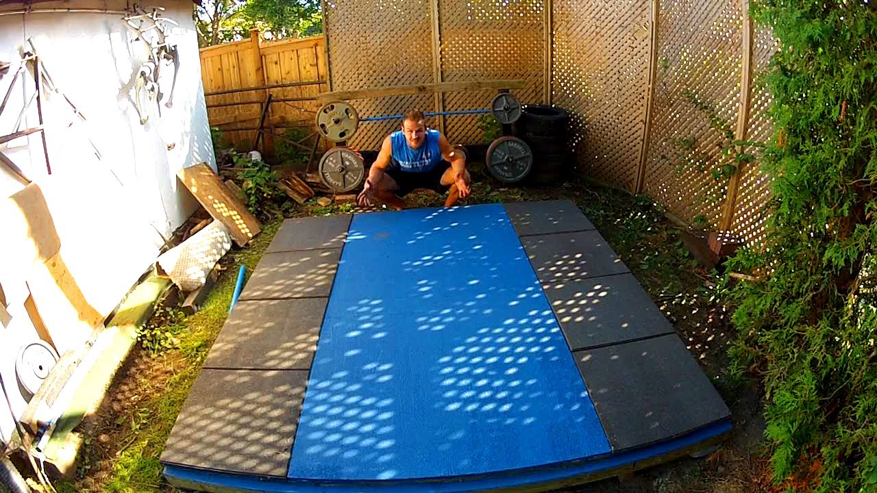 homemade backyard olympic weightlifting platform gopro canada